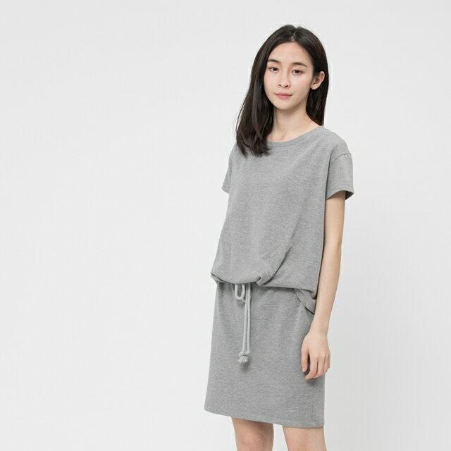 法國小毛圈衣裙洋裝 / 中灰 0