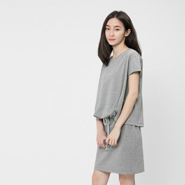 法國小毛圈衣裙洋裝 / 中灰 1