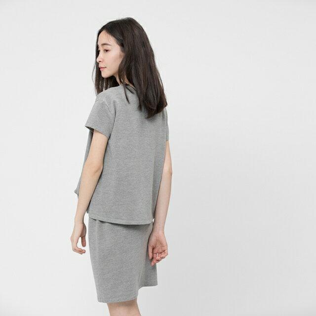 法國小毛圈衣裙洋裝 / 中灰 2