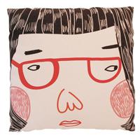 紅鏡框女孩好家在抱枕套