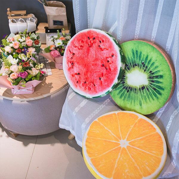 BO雜貨【YV6406】創意3D仿真水果坐墊 抱枕 椅墊 坐墊 靠墊 午睡枕 和室 寵物墊