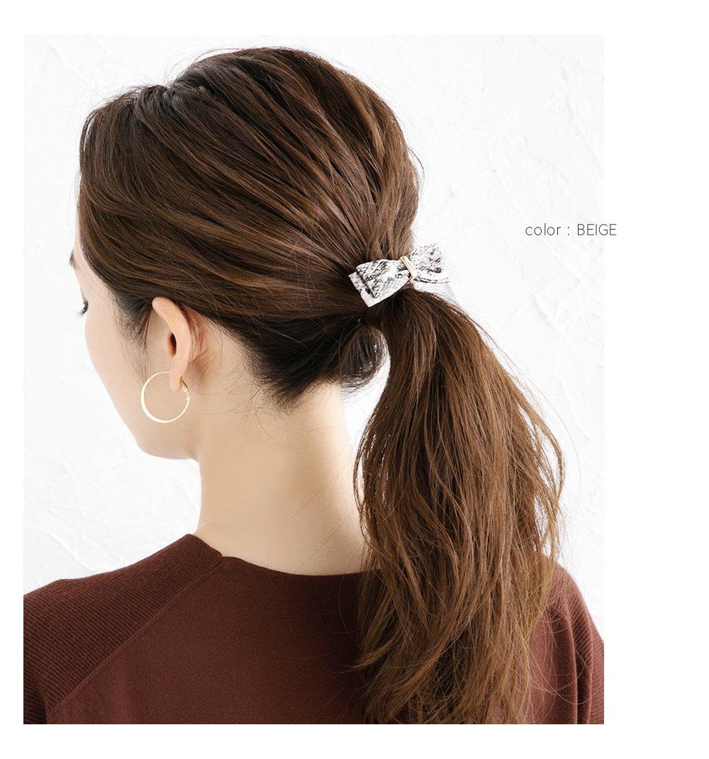 日本CREAM DOT  /  典雅人造皮蝴蝶結髮叉 髮飾  /  a03477  /  日本必買 日本樂天直送(1090) 5
