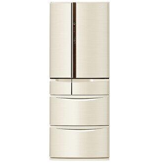 【國際牌Panasonic】ECONAVI旗艦日本製 555L六門變頻冰箱。香檳金/(NR-F560VT/NR-F560VT-N1)