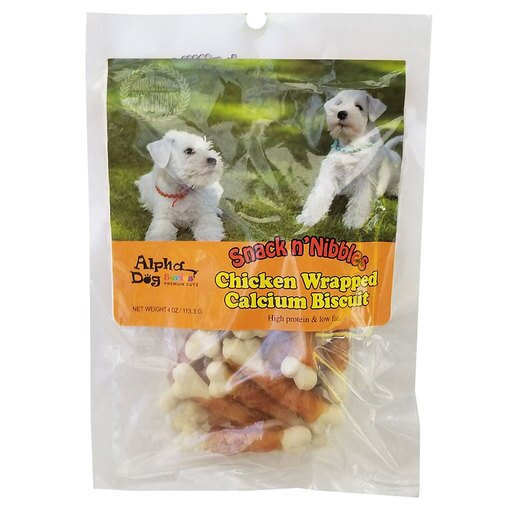 Alpha Dog Series - Chicken Wrapped Calcium Biscuits (4oz)