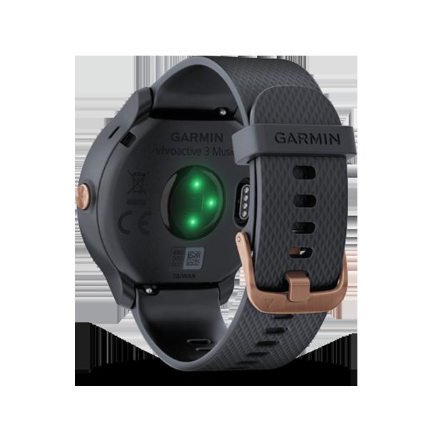 (領卷享折扣)【免運】【H.Y SPORT】Garmin vivoactive 3 Music GPS音樂智慧腕錶 花崗岩藍 / 黑色 『加贈日本sasaki運動毛巾』 3