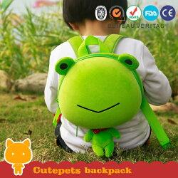 supercute 動物造型後背包-大頭呱呱蛙【小丁婦幼】