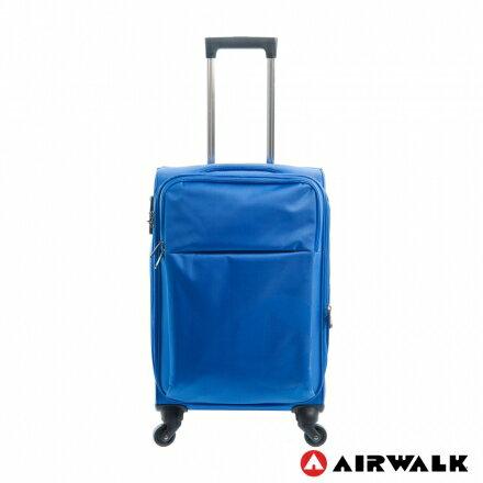 【加賀皮件】AIRWALK 寄情物語 輕量系列 20吋 顏色設計簡單 可擴充加大 反光式隱藏Logo 行李箱 旅行箱 A615370