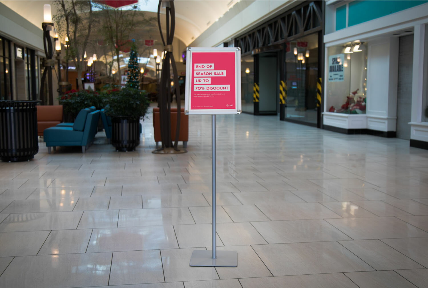 Offex A3 Size Paper Pedestal Directional Sign Holder Stand 5