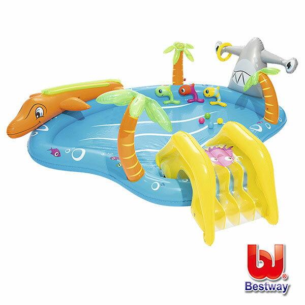 《Bestway》熱帶海洋遊樂充氣戲水池(69-26101)
