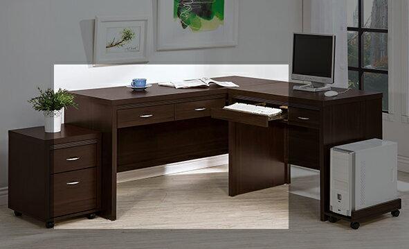 ~尚品傢俱~HY~B496~06艾拉胡桃5尺二抽桌