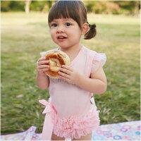 女寶寶包屁裙 手工鑲鑽 飛袖 包屁衣 爬服 哈衣 Augelute Baby  32144-baby童衣-媽咪親子推薦