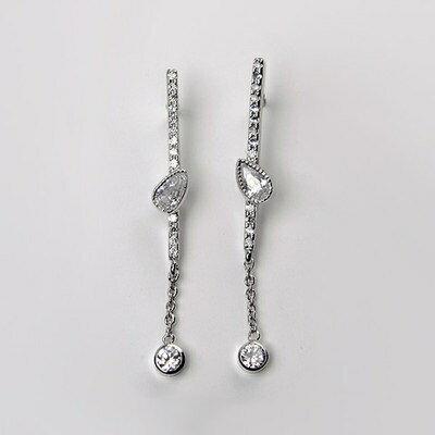 925純銀耳環水晶耳飾~ 百搭高貴精美情人節 女飾品73gs165~ ~~米蘭 ~