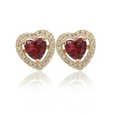 925純銀耳環鑲鑽耳飾~ 大方炫彩迷人生日情人節 女飾品2色73dm47~ ~~米蘭 ~