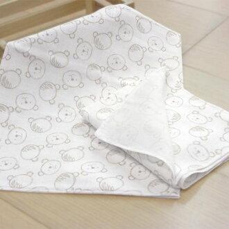 ★衛立兒生活館★GMP BABY - 熊頭純棉長型紗布二入澡巾(XT4-002)