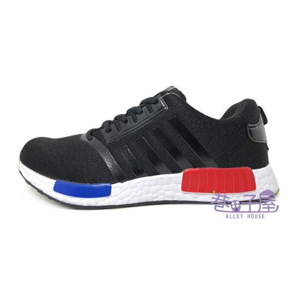 【巷子屋】JimmyPoLo情侶鞋男女款造型編織運動慢跑鞋[68059]黑超值價$298