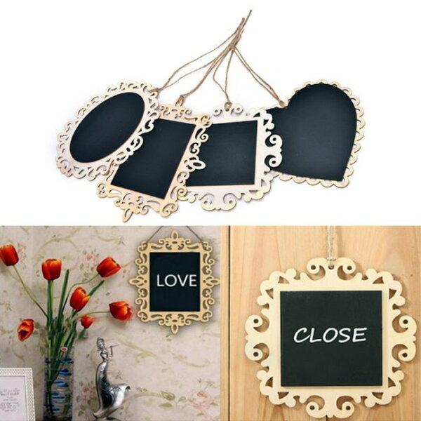 【省錢博士】鏤空蕾絲花邊小黑板婚慶裝飾吊牌壁掛留言黑板