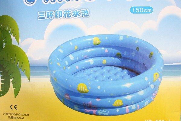 幼兒充氣水池 直徑150cm 三環圓形戲水池 YT-028A 兒童游泳池/一個入{促999}~YF4276