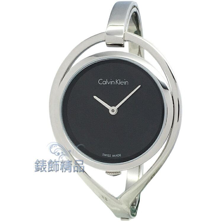 【錶飾精品】CK Calvin Klein凱文克萊 K6L2S111-小 精巧系列 黑面手環女錶 全新原廠正品 情人禮品