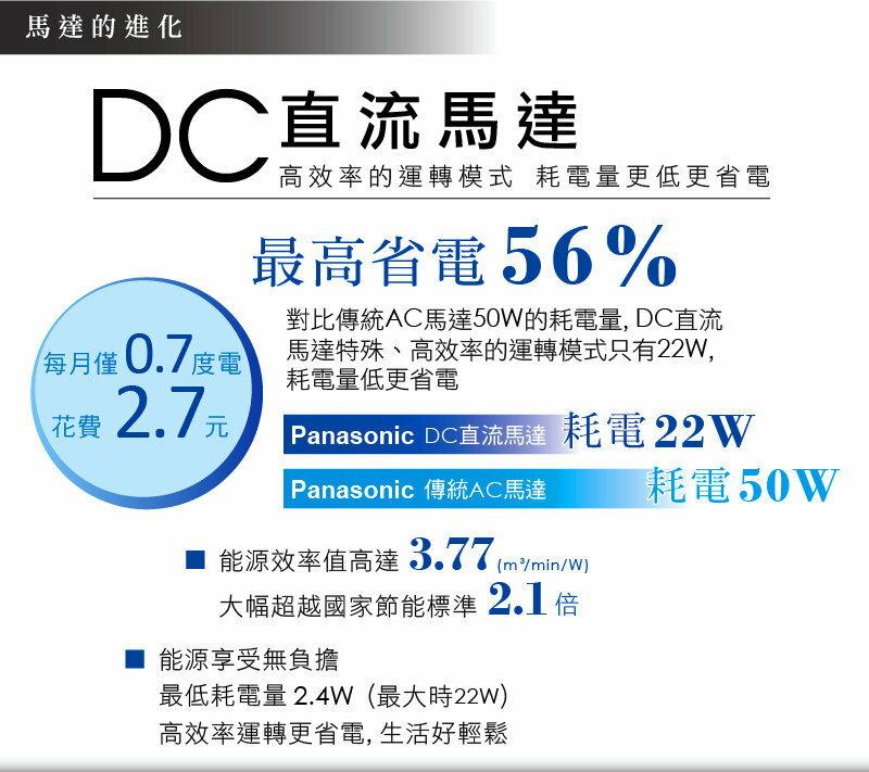 Panasonic 國際牌14吋DC變頻立扇 F-S14DMD