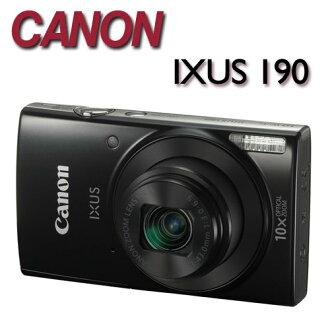 【★送32G卡+專用電池+數位清潔組】Canon IXUS 190【公司貨】時尚輕薄相機