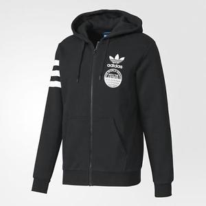 [尋寶趣] Adidas Originals 男款 黑 三葉草 LOGO 運動外套 經典款 連帽外套 BP8919