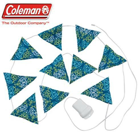 Coleman LED串燈/露營燈/三角旗聖誕燈 CM-22287J 藍/台北山水