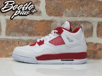 女鞋 BEETLE NIKE AIR JORDAN 4 RETRO ALTERNATE 89 白紅 408452-106