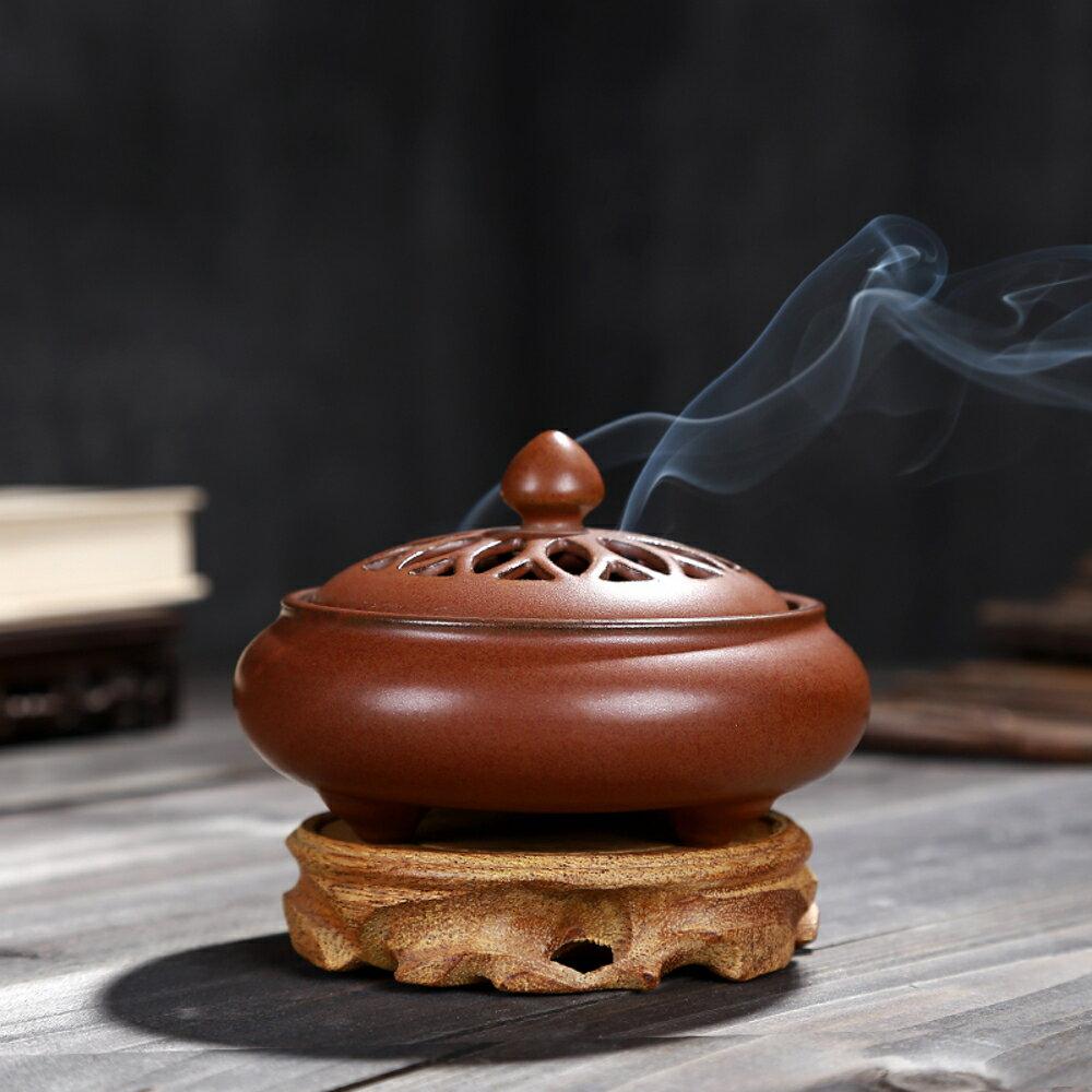 香爐陶瓷復古檀香爐盤香爐家用禪意供奉室內茶道熏香香薰爐 全館免運