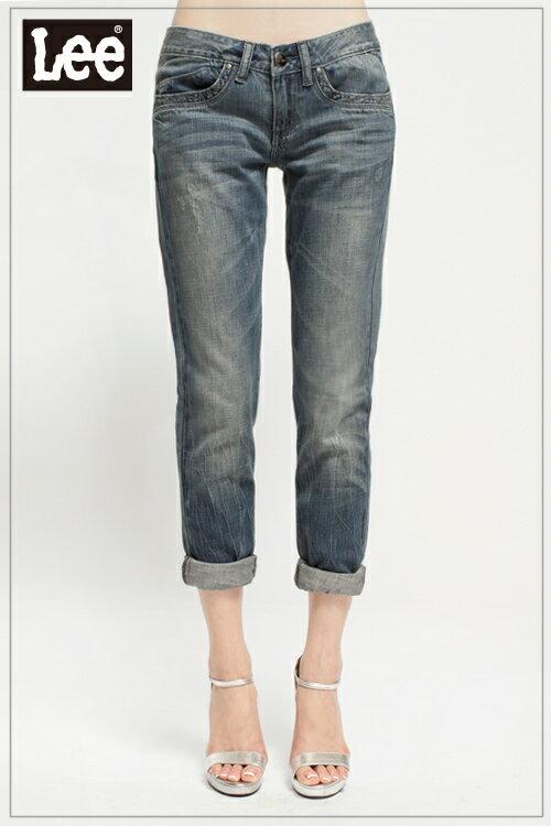【全館免運 | 滿額↘再折$150】Lee 403 超低腰合身窄管牛仔褲 RG 女款 中淺藍