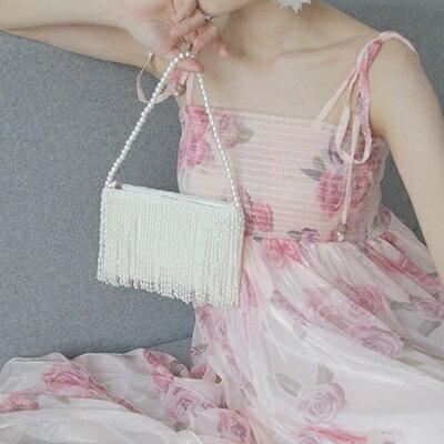 手提包珍珠晚宴包-名媛時尚優雅氣質流蘇女包包73sn5【獨家進口】【米蘭精品】