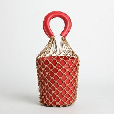 ☆手提包真皮水桶包-獨特復古漁網可拆卸女包包5色73tn3【獨家進口】【米蘭精品】