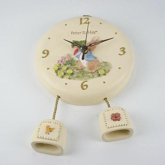 AnniesFriends 比得兔 Peter Rabbit 圓形 壁鐘 時鐘 掛鐘 簡約 經典 傢飾 吊飾 比得兔