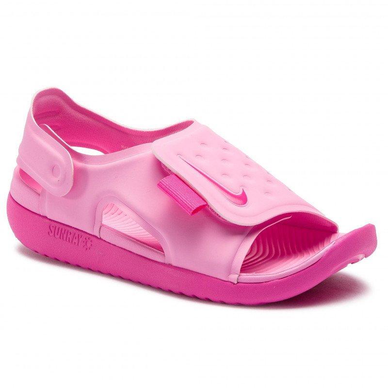 【滿額最高折$430】Nike Sunray Adjust 5 童鞋 中童 大童 涼鞋 包覆 防水 透氣 粉【運動世界】AJ9076-601