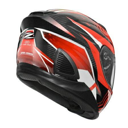 任我型騎士部品 ZEUS 1600 AK6 紅 亮光 碳纖維 全罩 安全帽 送好禮五選一