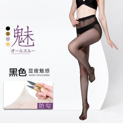 絲襪 絲襪女薄款防勾絲連褲襪肉色光腿神器防走光鳳梨襪超薄夏天性感『XY4554』