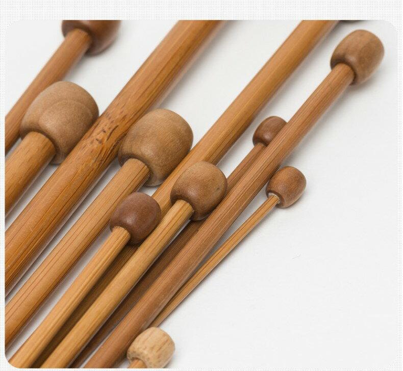 長棒針單頭 打毛線工具 長36公分 2.0mm - 4.0mm 竹棒針  木質長針 鉤針 毛衣針織針 3