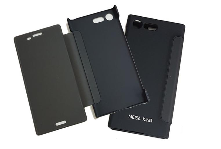 SONY XPERIA X Compact F5321 MEGA KING 透視惻掀皮套