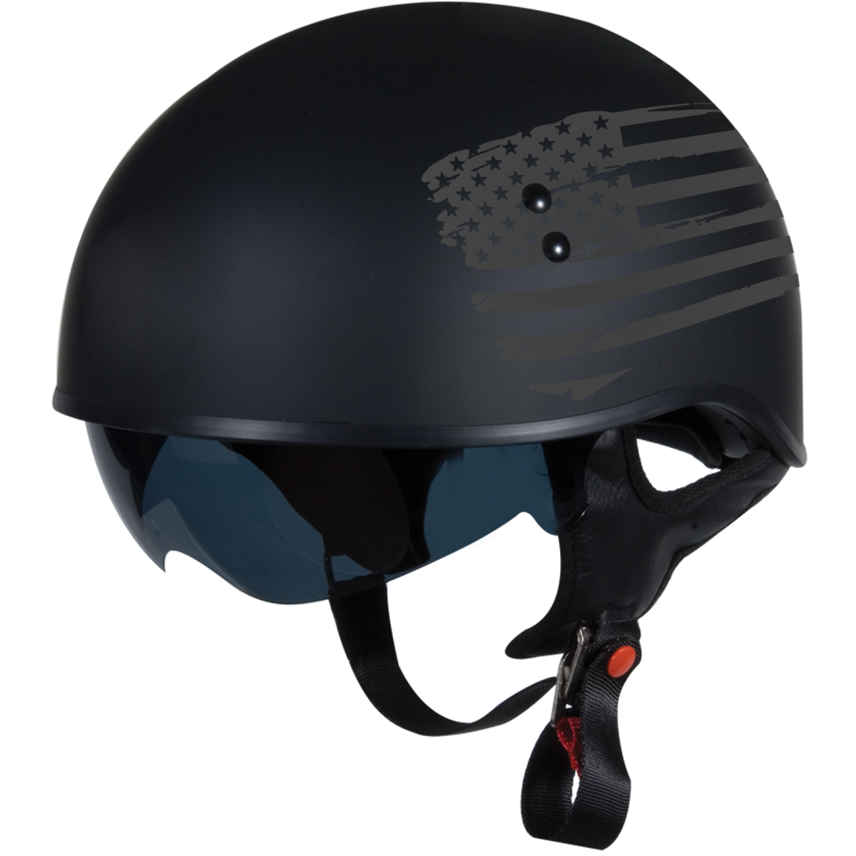 TORC T55 Spec-Op Motorcycle Half Helmet with Graphic and Drop-Down Sun Visor 87db1c732ba