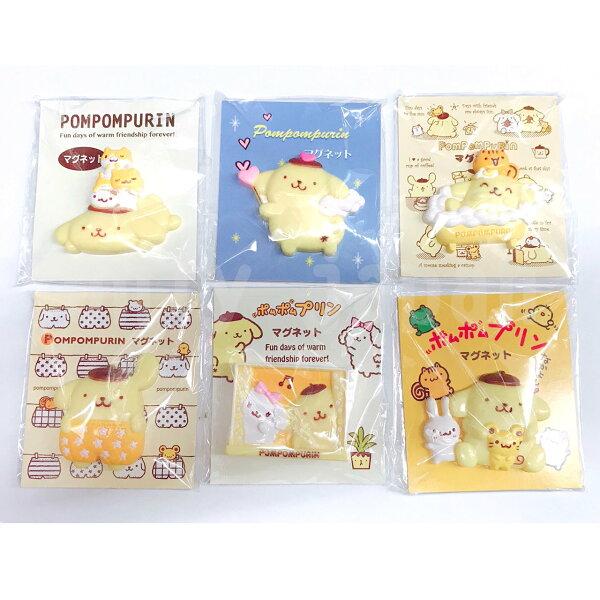 【真愛日本】18050800009造型磁鐵-PN與好友6款三麗鷗布丁狗磁鐵造型磁鐵裝飾收藏可愛磁鐵