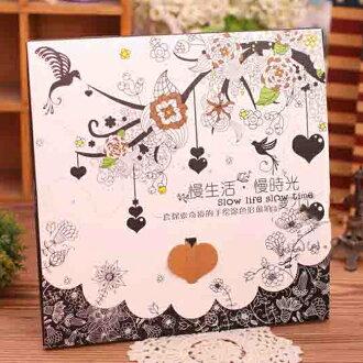 * Anne&Alice 包包購 *~精選實用小物專區~超夯慢生活 慢時光手繪填色卡 24圖塗鴉卡 12張/盒超特價~*