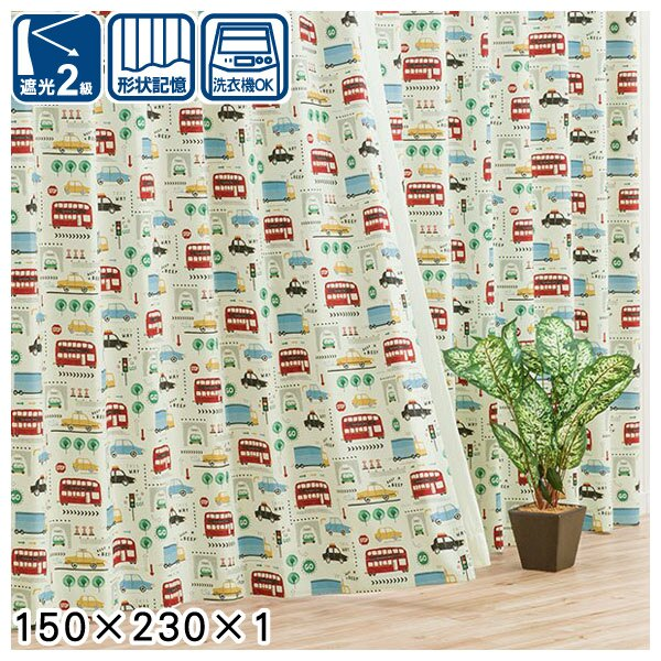 遮光窗簾 CARRIAGE 150×230×1 NITORI宜得利家居 0