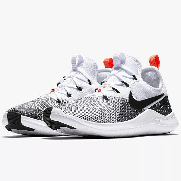 NikeFreeTR8女鞋慢跑訓練輕量透氣黑灰白【運動世界】942888-101