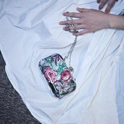 肩背包花朵斜背包-韓版時尚小巧鏈條女包包73so6【獨家進口】【米蘭精品】