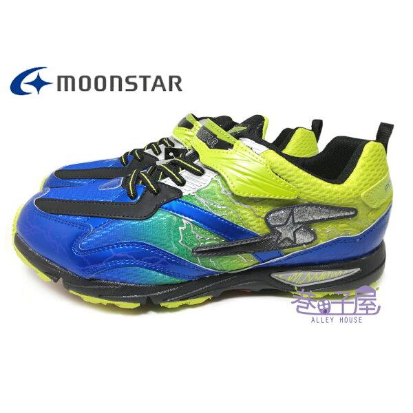 巷子屋:【巷子屋】Moonstar月星童款SUPERSTAR-閃電系列健康機能運動慢跑鞋[6815]藍超值價$690【單筆消費滿1000元全會員結帳輸入序號『CNY100』↘折100】