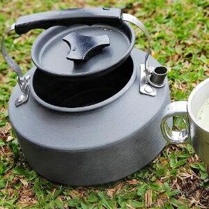 美麗大街【107013010】野外茶壺野營鋁合金1.1L咖啡壺便攜開水壺