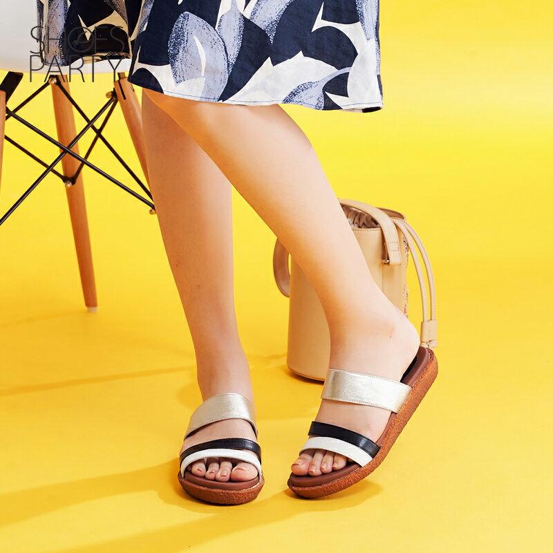 【S2-17621L】Simple+久走不累撞色涼拖鞋_Shoes Party 3