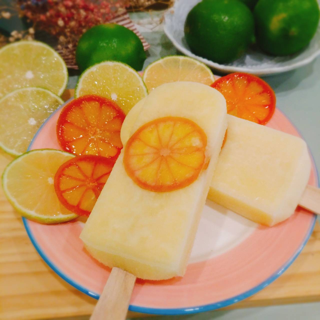 檸檬黃金香橙-天然手作鮮果冰棒★全店滿499免運