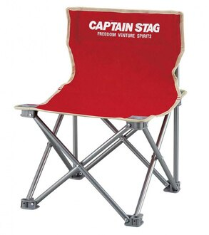 【鄉野情戶外用品店】 CAPTAIN STAG 鹿牌  日本  斑比迷你野營椅/折疊椅 釣魚椅 童軍椅 休閒椅-紅/M-3919