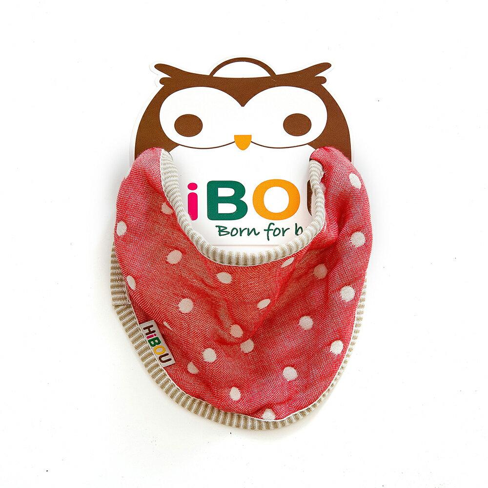 HiBOU-六重紗-寶貝圍兜兜(耀眼紅)