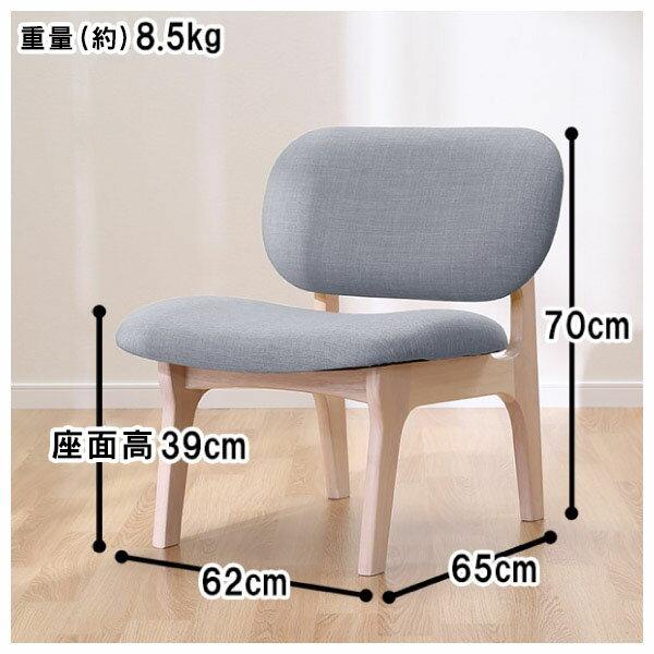 ◎(OUTLET)實木餐椅 RELAX WW / GY 橡膠木 福利品 NITORI宜得利家居 9